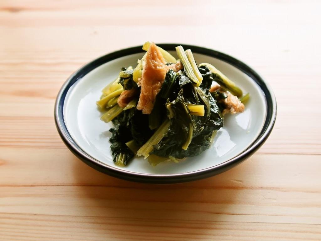 小松菜と油揚げの煮びたし 割とズボラ