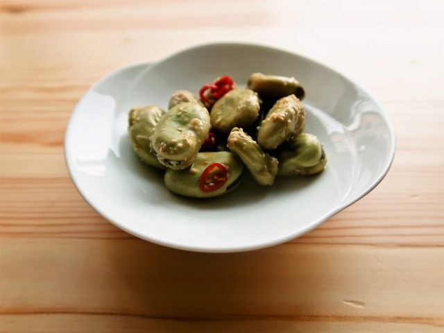 【野菜ひとつ】そら豆のにんにく醤油がらめ