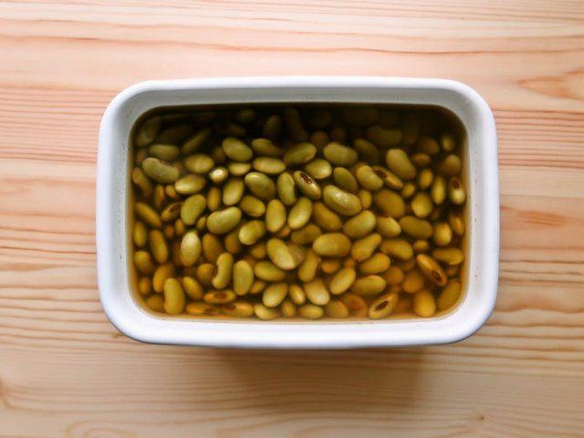 何かと重宝 青大豆のひたし豆