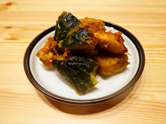 かぼちゃと鶏肉の生姜焼き風