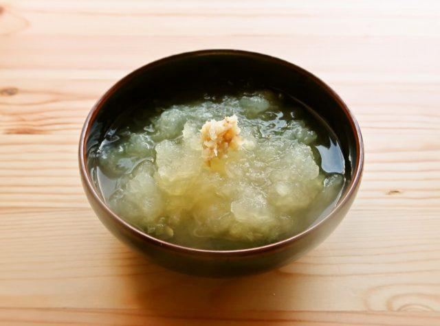 くずし冬瓜の澄まし汁 冷やしても温めても