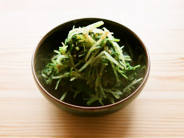 【野菜ひとつ】水菜のごましょうが和え