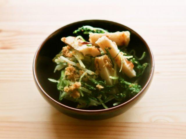 焼きちくわと水菜のナムル