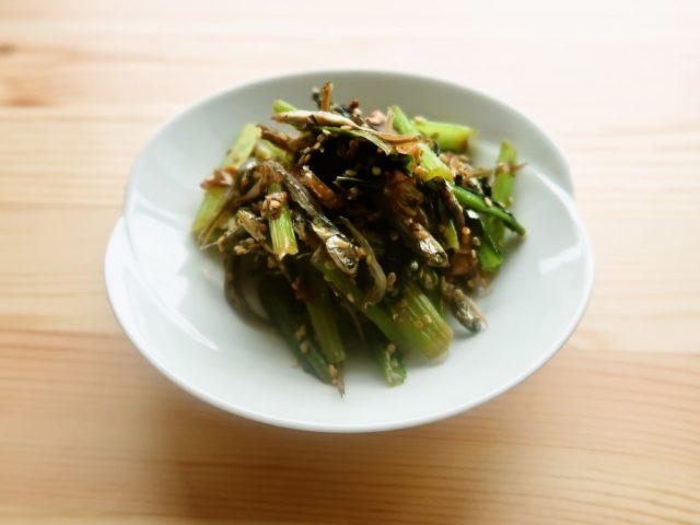 カルシウムたっぷり 小松菜のじゃこ炒め