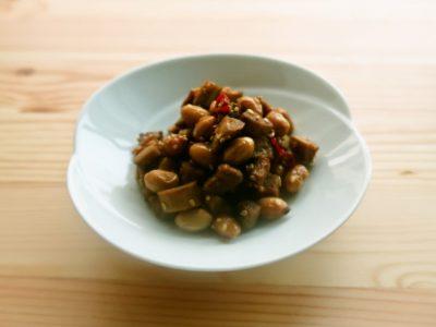 ごぼうと大豆の甘辛炒め