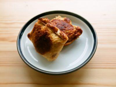 鶏ひき肉の油揚げ包み焼き