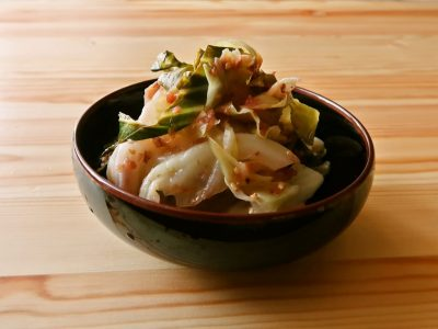 【野菜ひとつ】大量消費 旨味たっぷりキャベツの梅和え
