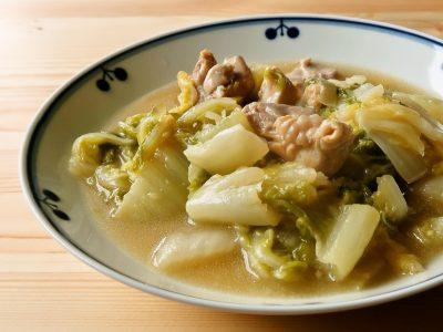上海風 白菜と鶏もも肉の蒸し煮