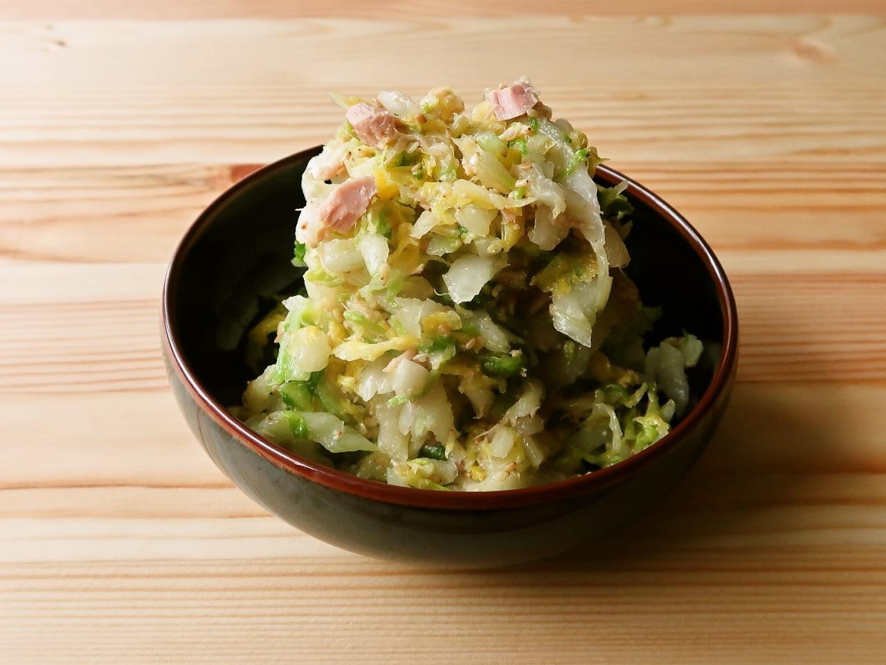 【野菜ひとつ】大量消費 白菜のツナごまサラダ