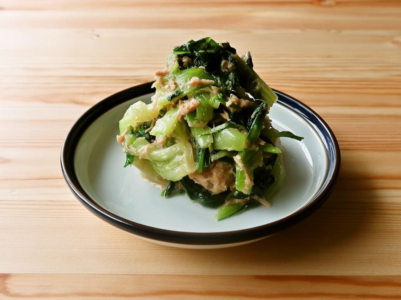 【野菜ひとつ】青梗菜のツナごま和え