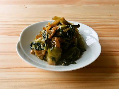 青梗菜のしょうがオイスターソース炒め