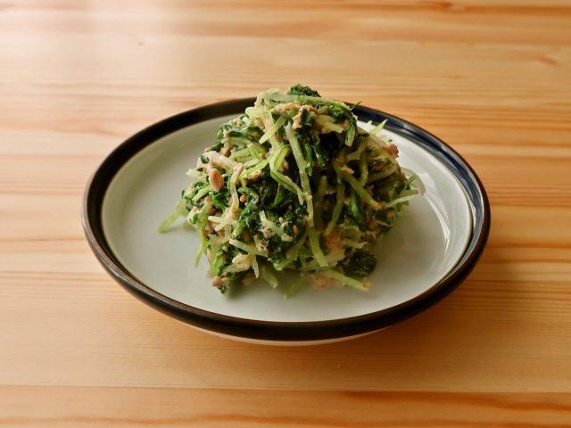 水菜のツナマヨごま和え