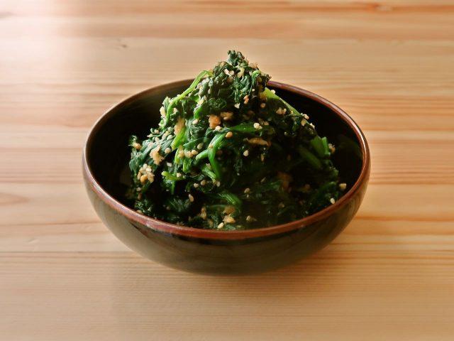 【野菜ひとつ】ほうれん草のごましょうが和え