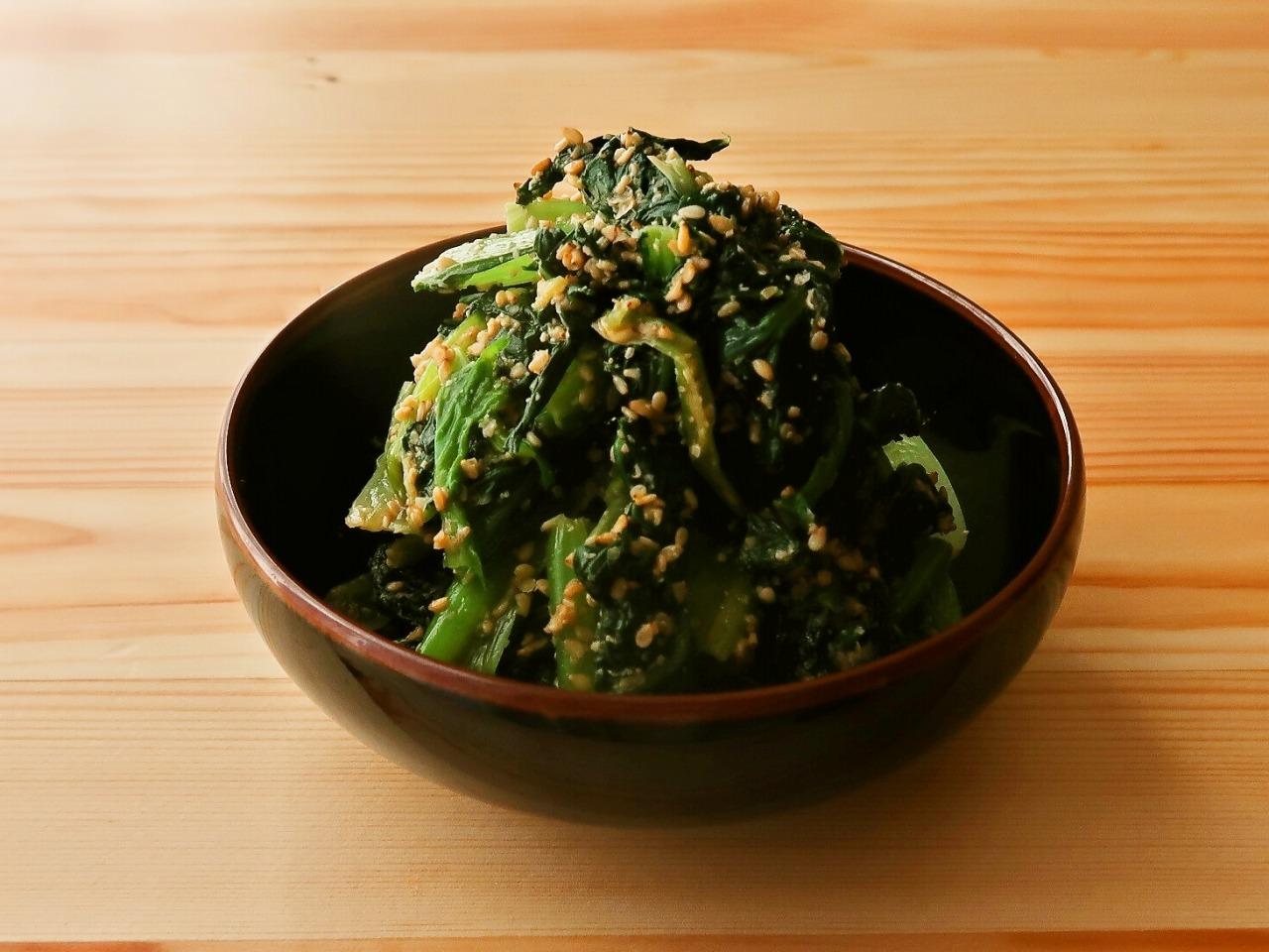 【野菜ひとつ】ごまたっぷり 小松菜のごま和え