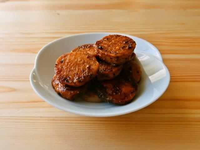 【野菜ひとつ】焼き里芋のバーベキューソース風