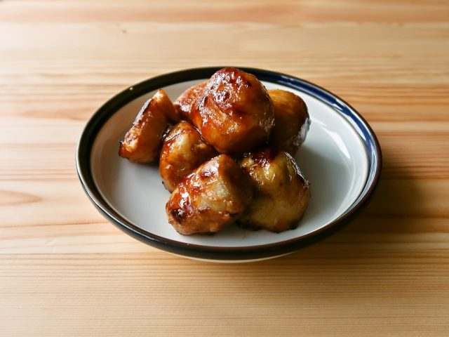 【野菜ひとつ】里芋の照り焼き