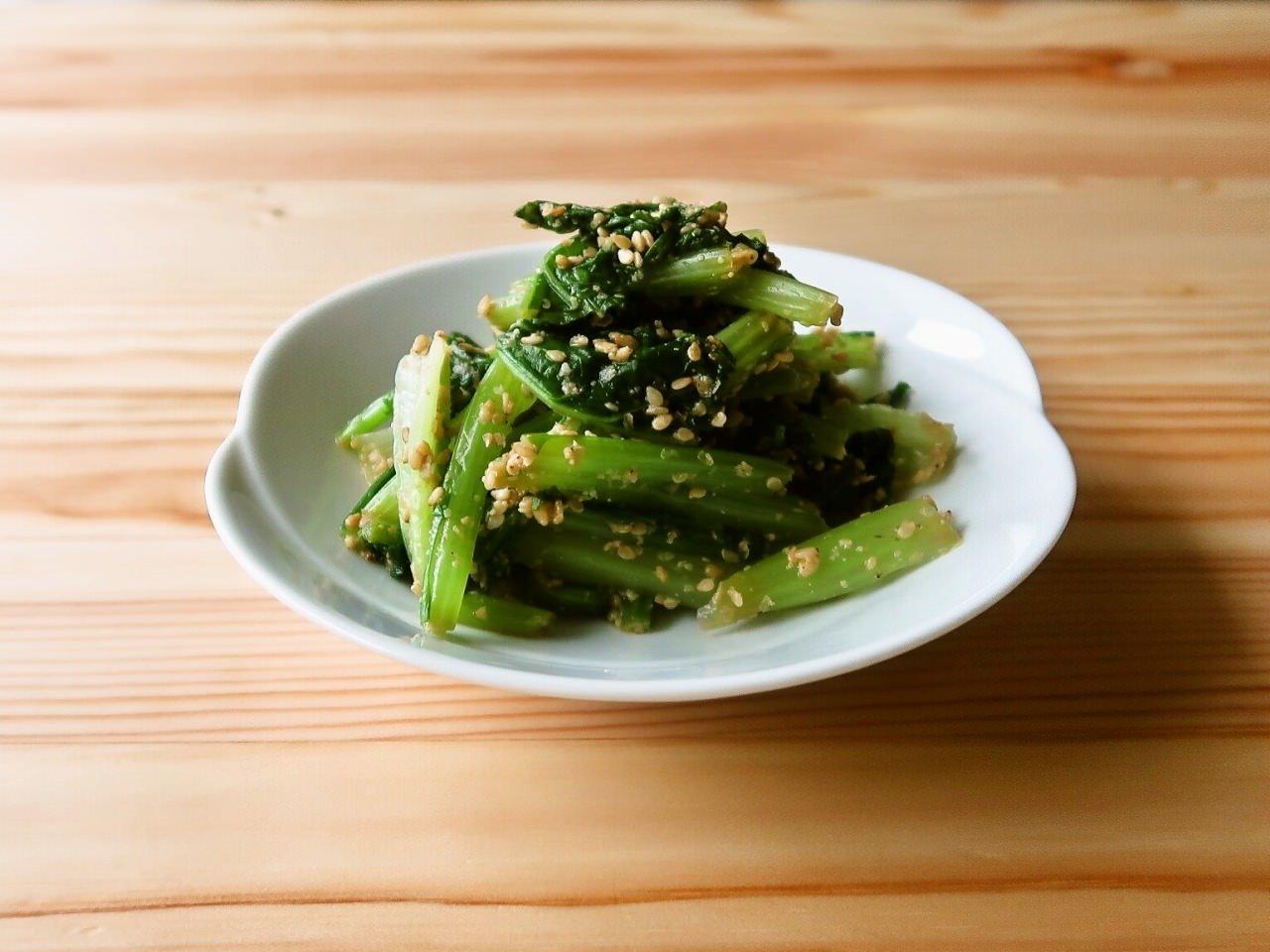 【野菜ひとつ】かぶの葉のごま和え