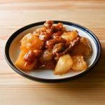 かぶと豚肉のチリソース炒め煮