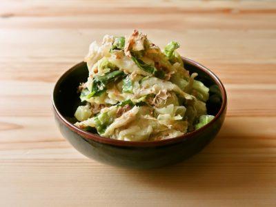 【野菜ひとつ】大量消費 キャベツのおかかマヨ和え