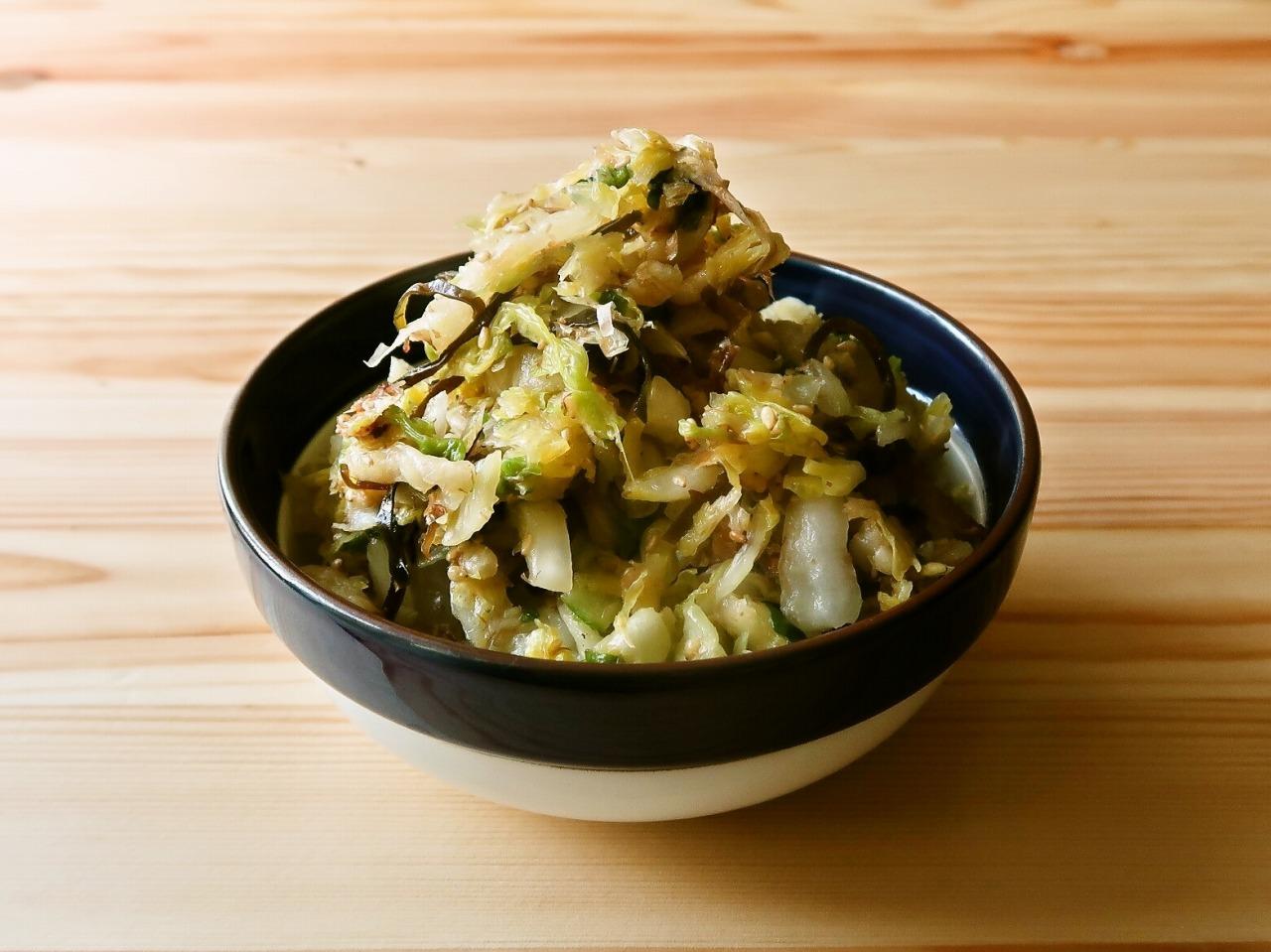 【野菜ひとつ】大量消費 白菜の和風サラダ