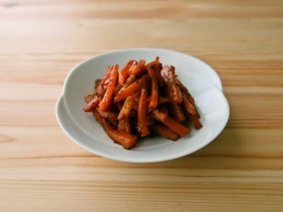 【野菜ひとつ】にんじんのガーリックコンソメマヨ炒め