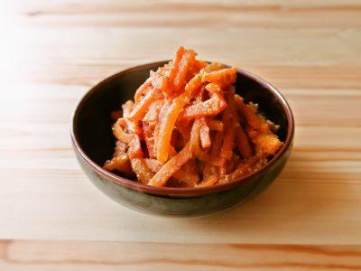 【野菜ひとつ】にんじんのごまマヨ炒め