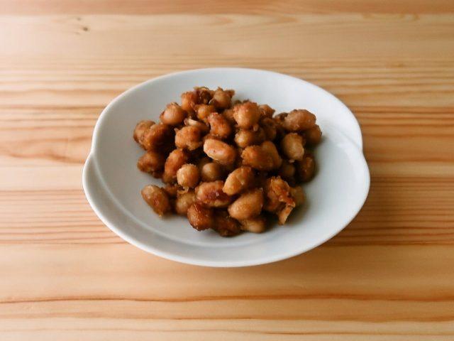大豆のガーリックコンソメマヨ炒め