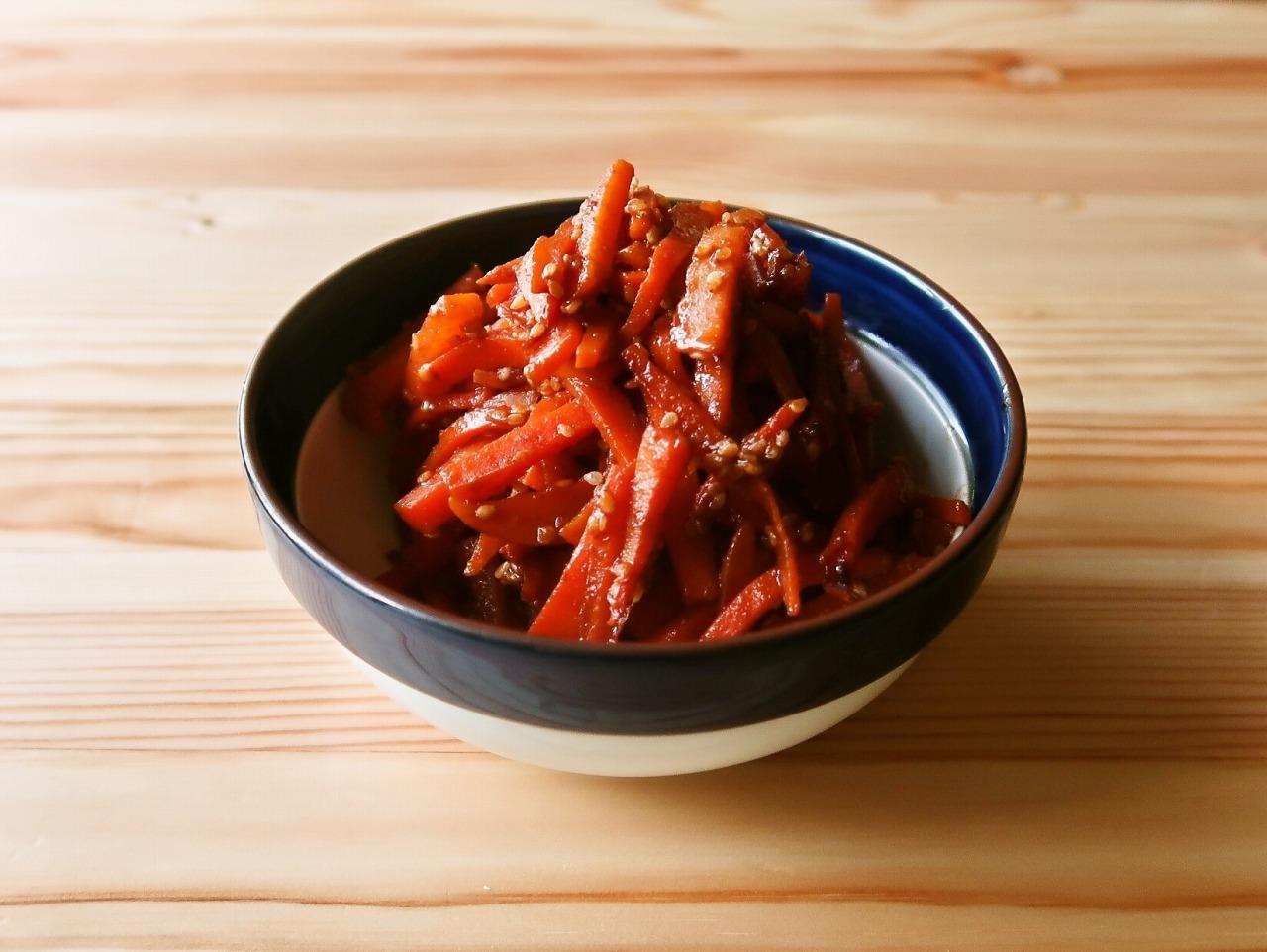 【野菜ひとつ】にんじんのコチュマヨ炒め