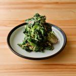 【野菜ひとつ】ほうれん草のセサミマスタード和え