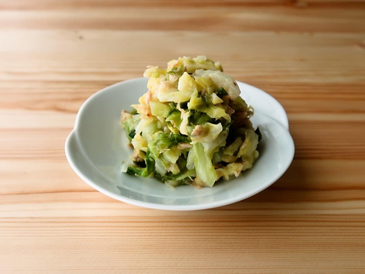 【野菜ひとつ】あっさりすっきり キャベツとツナの梅しょうが和え