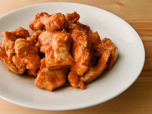 鶏むね肉のコチュジャン照り焼き