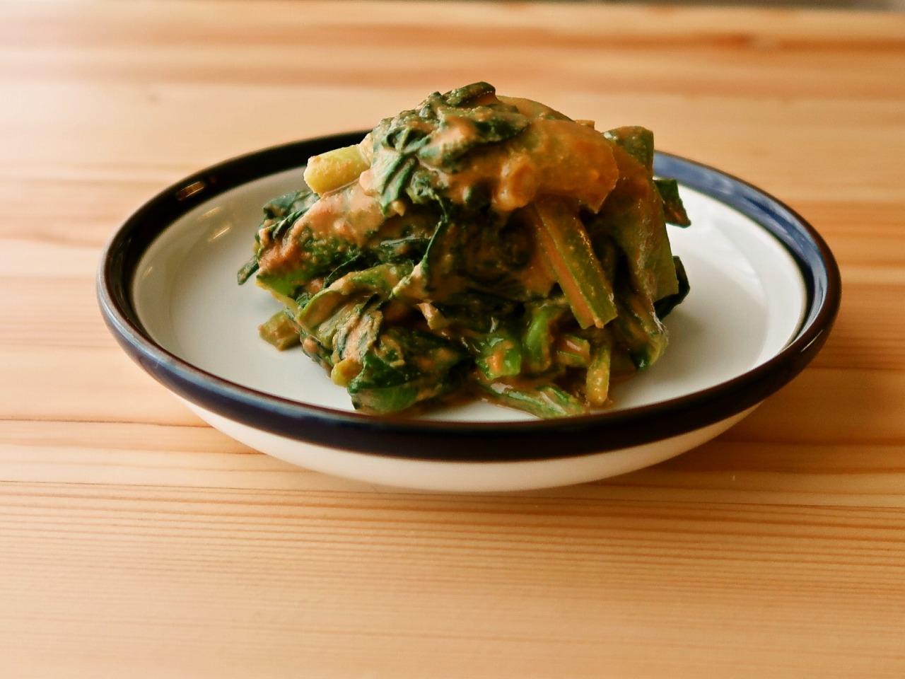 【野菜ひとつ】小松菜のきな粉和え