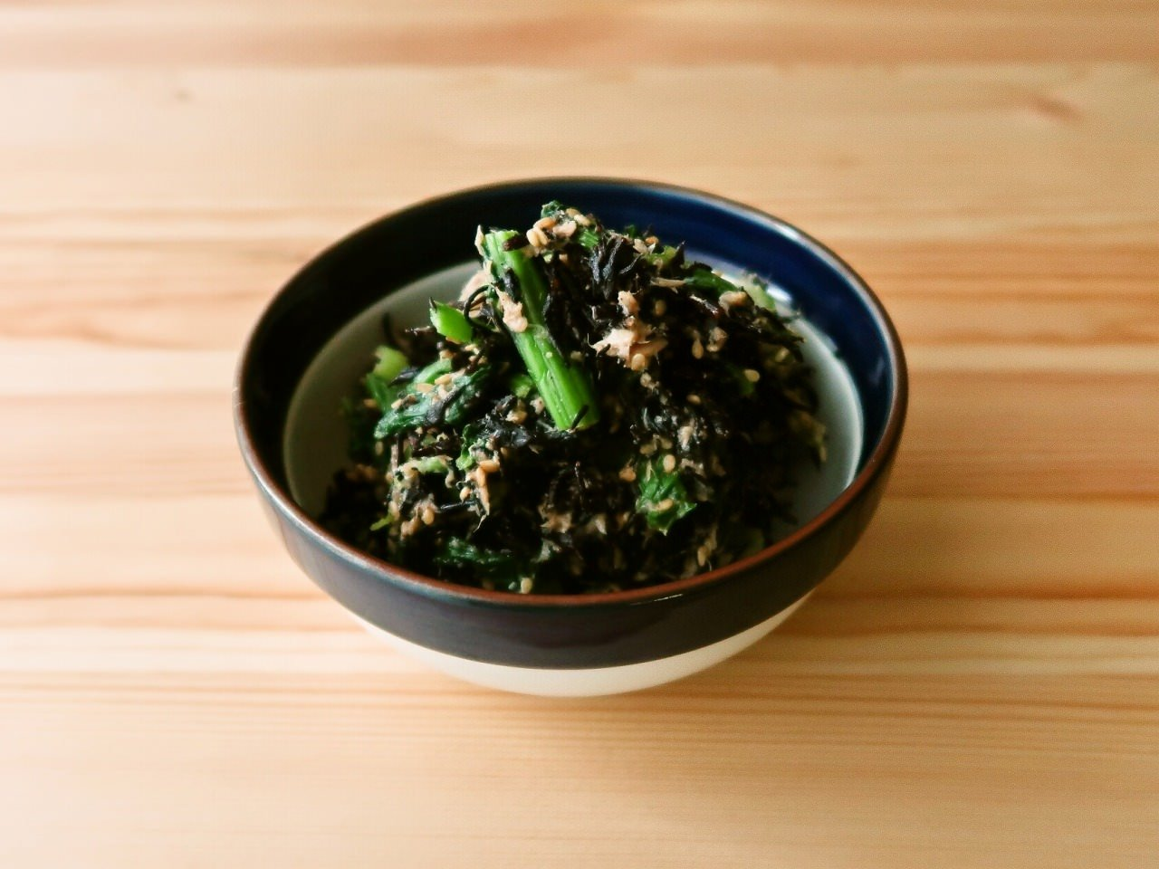 ひじきと小松菜のツナごま和え