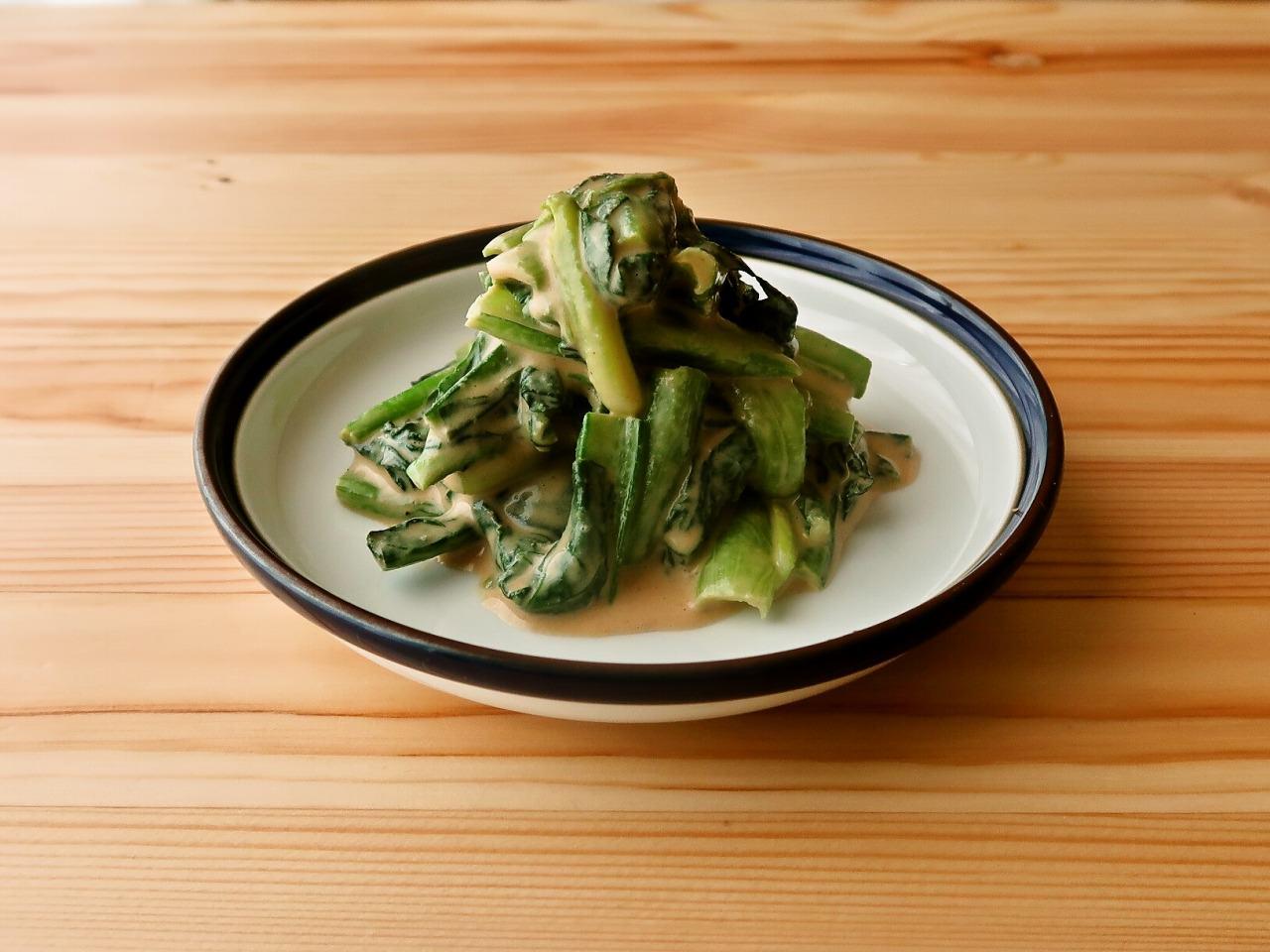 【野菜ひとつ】小松菜の練りごま和え