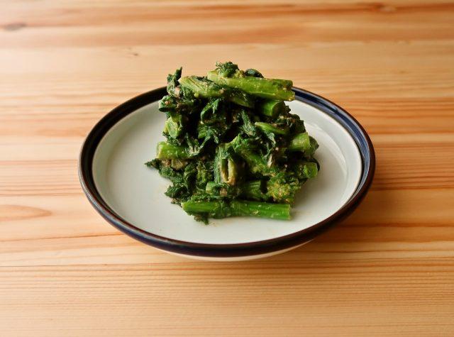 【野菜ひとつ】菜の花のきな粉マヨ和え
