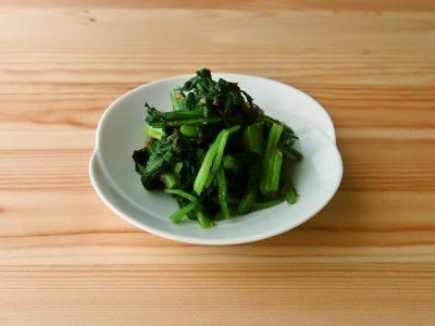【野菜ひとつ】小松菜のわさび風味おひたし