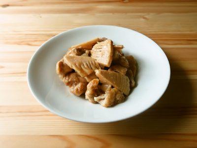 たけのこと鶏肉の甘辛炒め煮