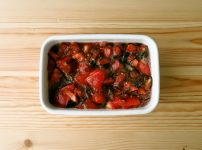 【野菜ひとつ】トマトの塩昆布レモン漬け