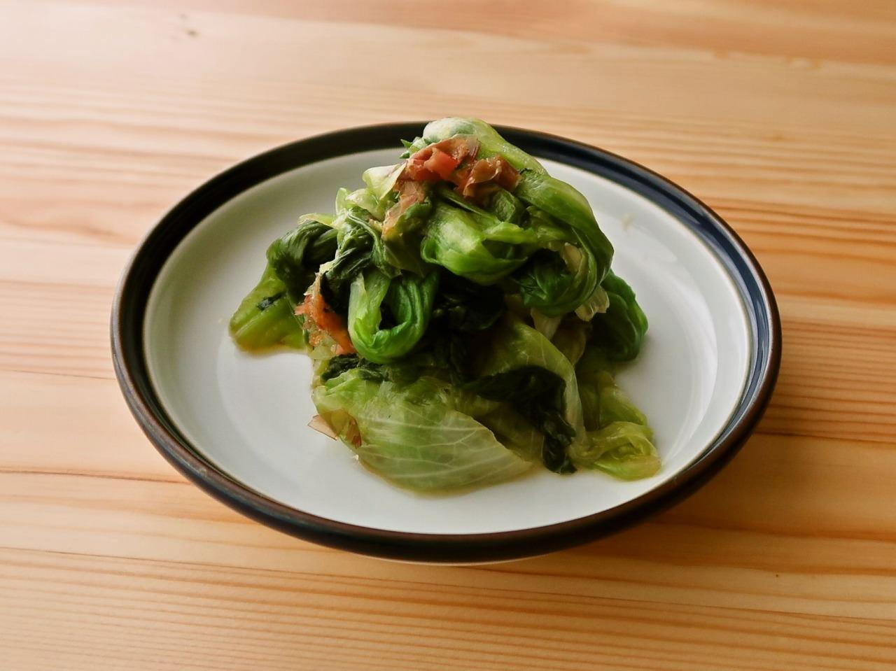 【野菜ひとつ】レタスの旨味おひたし