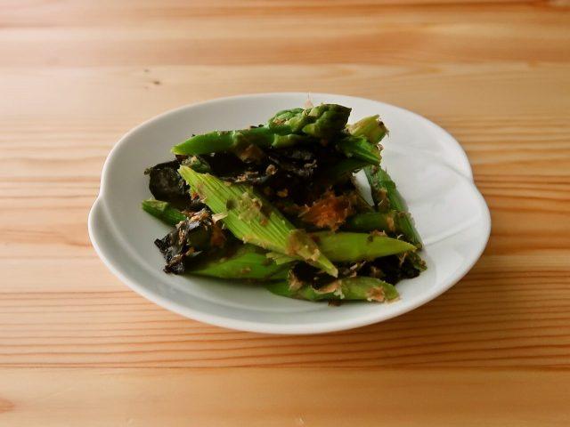 【野菜ひとつ】アスパラガスの海苔おかかまみれ