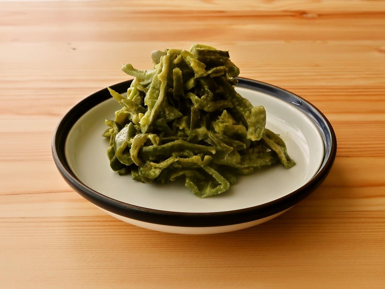【野菜ひとつ】ピーマンのコンソメマヨ炒め