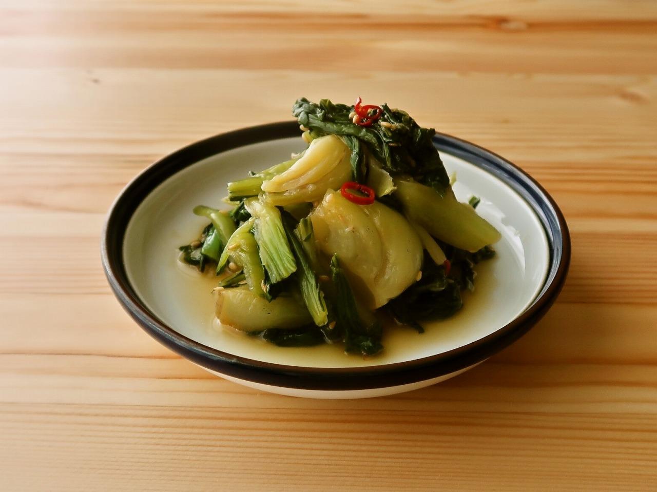 【野菜ひとつ】青梗菜の中華風おひたし