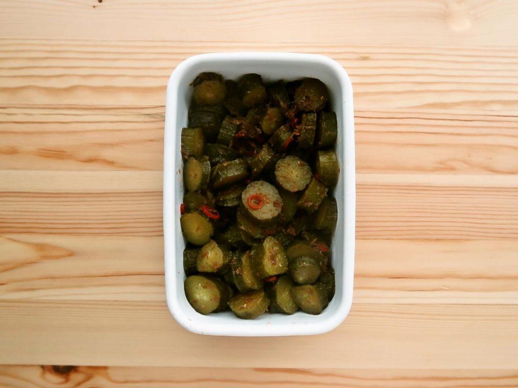 【野菜ひとつ】きゅうりのさっぱり煮
