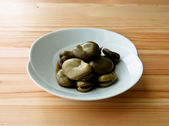 【野菜ひとつ】そら豆の甘辛煮