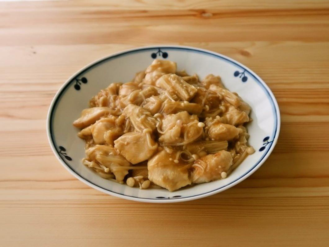 鶏むね肉とえのきのとろみ炒め
