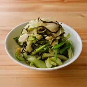 【野菜ひとつ】キャベツと塩昆布の即席漬け