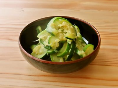 【野菜ひとつ】ズッキーニの甘酢しょうが和え