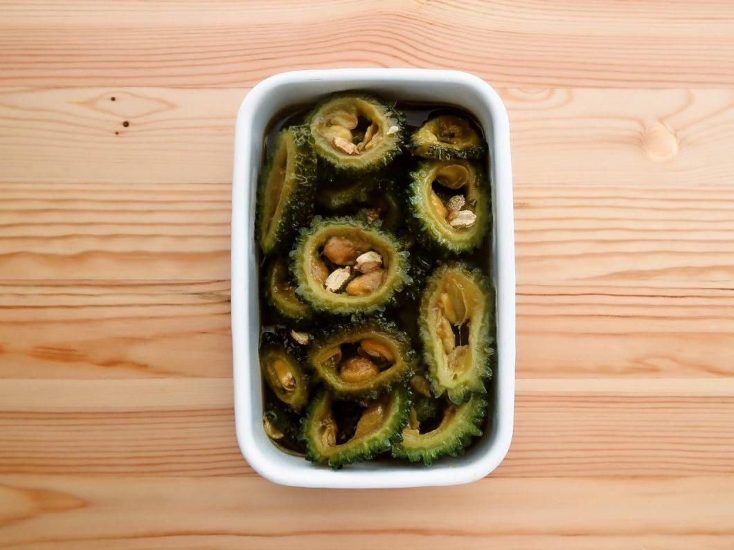 【野菜ひとつ】ゴーヤの揚げない揚げびたし