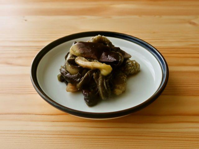 【野菜ひとつ】蒸しなすの柚子胡椒和え