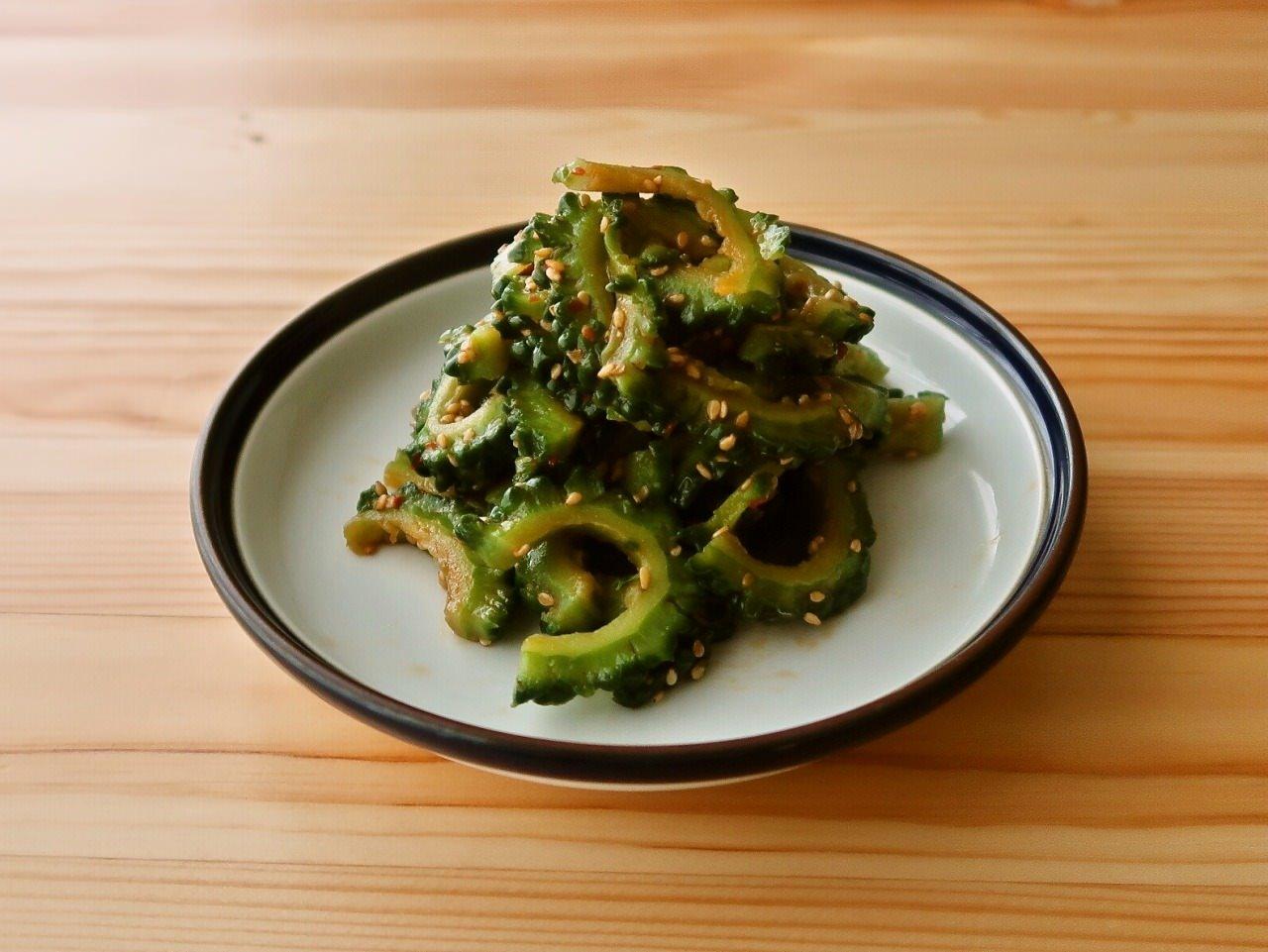 【野菜ひとつ】ゴーヤの豆板醤和え